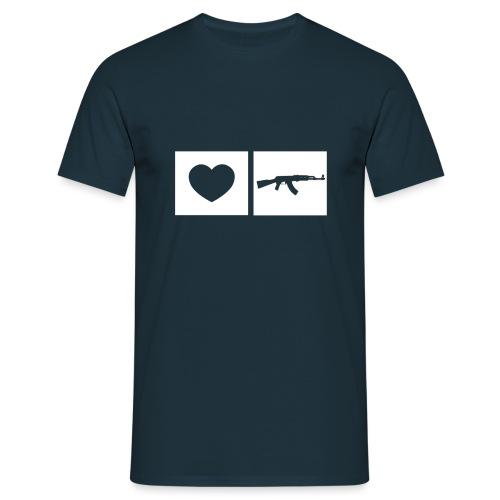 Faites l'amour et la guerre - T-shirt Homme