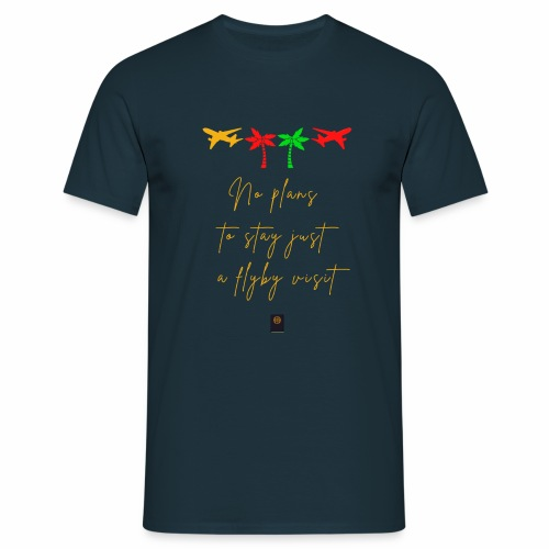 Colourful Holiday travel t shirts flight clothes - Men's T-Shirt