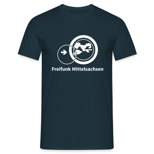Weiß auf schwarz - Männer T-Shirt