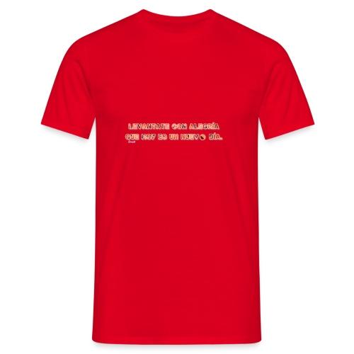 Vive con alegria - Camiseta hombre