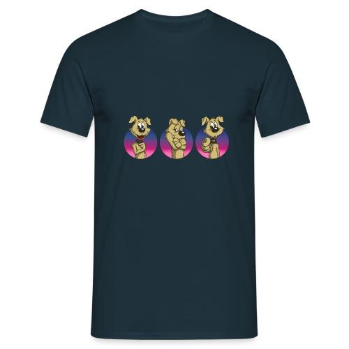 "Comic Hund in Gebärdensprache ""I love you"" - Männer T-Shirt"