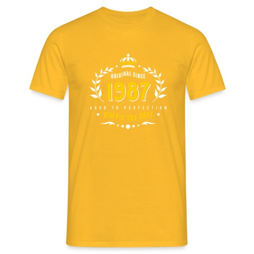 original since 1987 simply the best 30th birthday - Men's T-Shirt