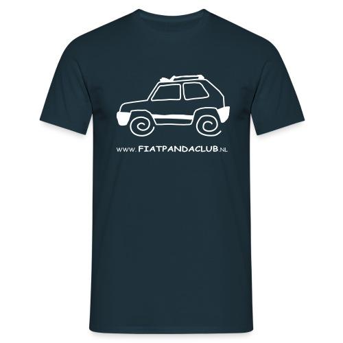 Panda logo wit transp - Mannen T-shirt