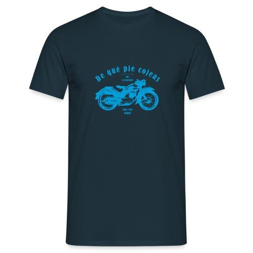 De què pie cojeas (blue) - Männer T-Shirt