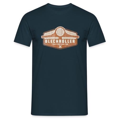 Blechroller Logo Grunge - Männer T-Shirt