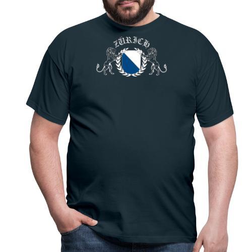 ZÜRICH LOGO FINAL WHT - Männer T-Shirt