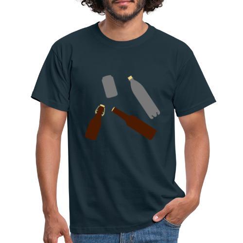 Flaschen und Dose - Männer T-Shirt