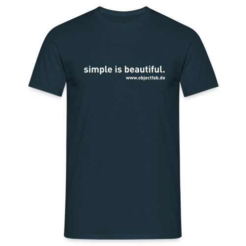 simple is beautiful wwwobjectfabde - Männer T-Shirt