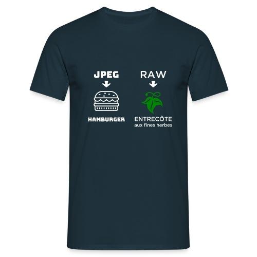 JPEG vs RAW - Camiseta hombre