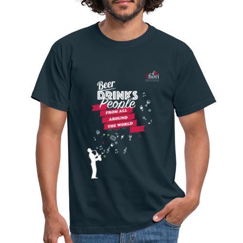 3fiori Bier trinkt Leute - Männer T-Shirt