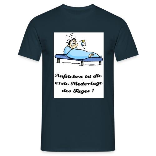 aufstehen schwarz - Männer T-Shirt