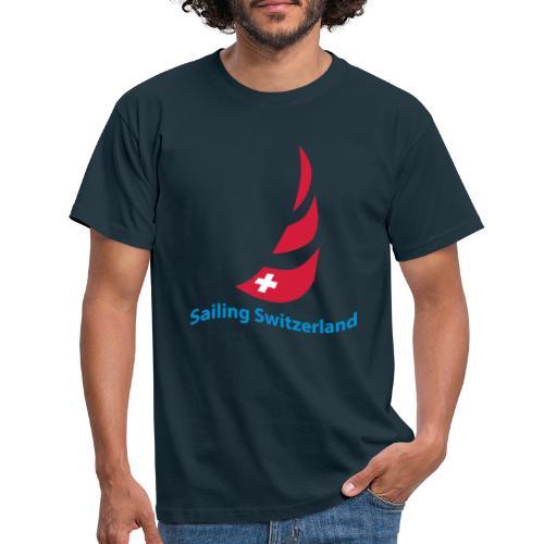 logo sailing switzerland - Männer T-Shirt