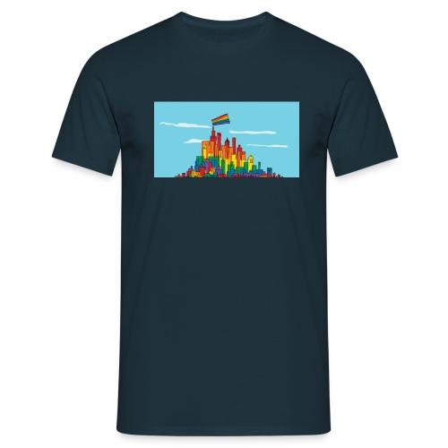 lgbtq town 1200x627 - Männer T-Shirt