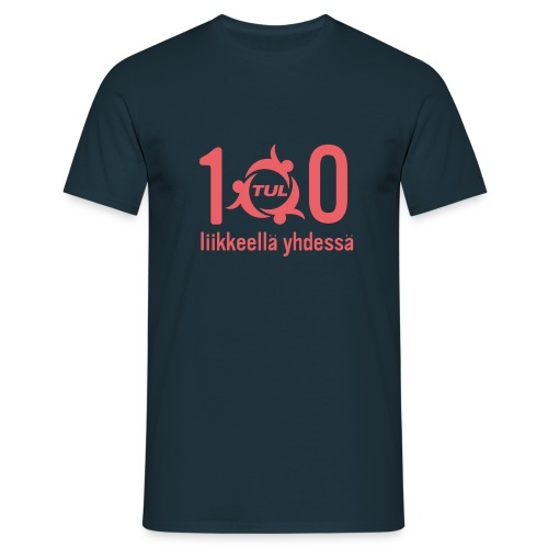 TUL100, punainen logopainatus - Miesten t-paita