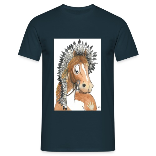 indianerpony cmyk - Männer T-Shirt