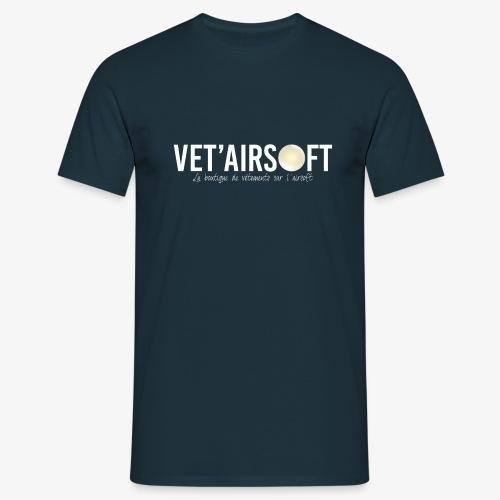 Logo Vet'Airsoft (blanc) - T-shirt Homme