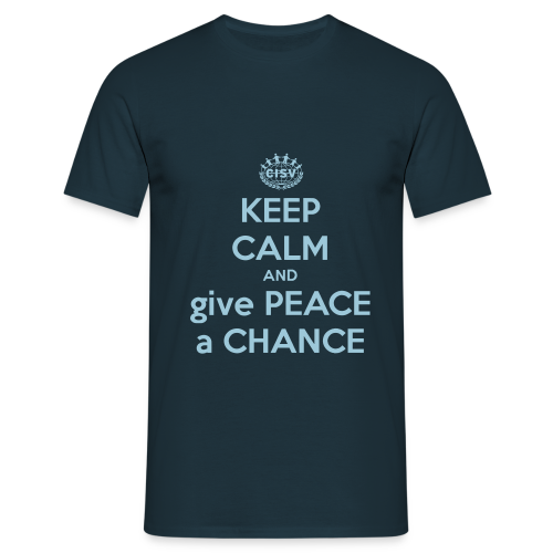 keep-calm-and-give-peace-a-chance - Männer T-Shirt