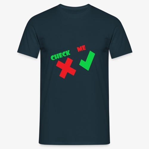 CheckMe - Mannen T-shirt