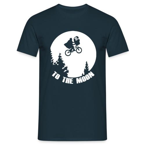 to the moon,bitcoin - Mannen T-shirt