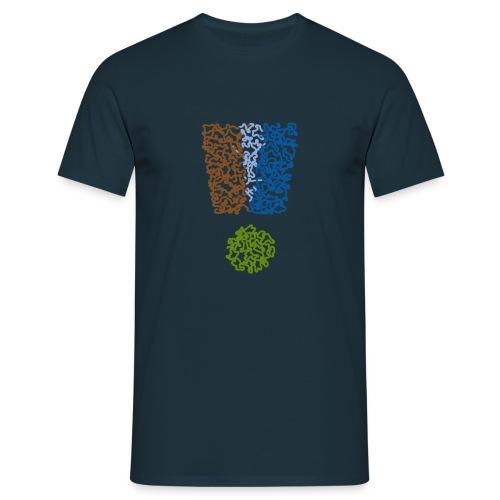 Black_Exclamation_Mark_Color - Männer T-Shirt