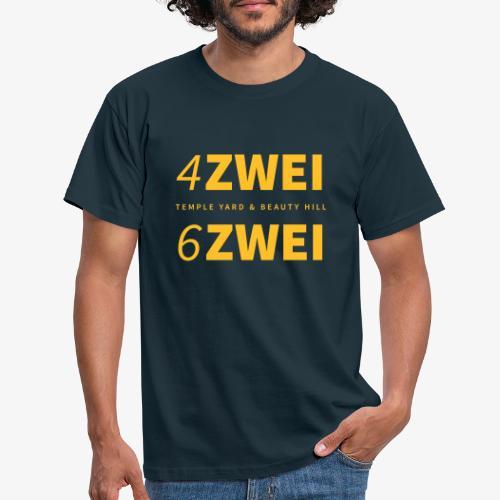 4 zwei 6 zwei // Temple Yard & Beauty Hill - Männer T-Shirt