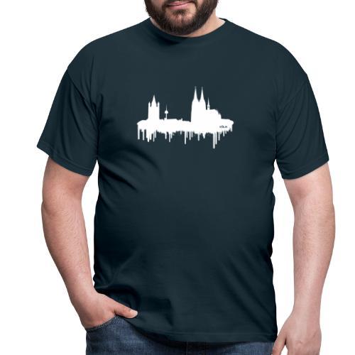 Skyline Köln - Weiß - Männer T-Shirt