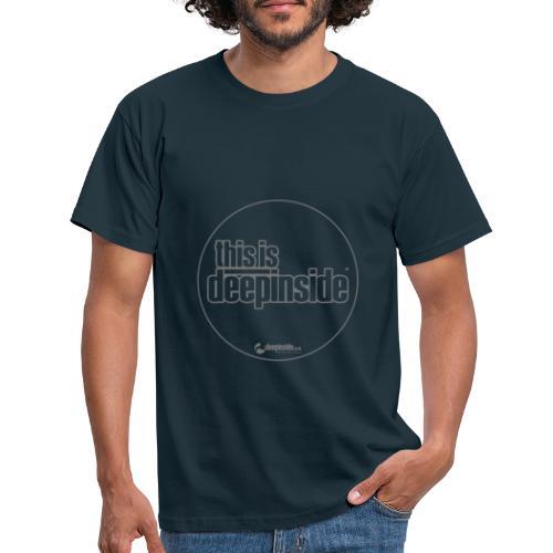 This is DEEPINSIDE Circle logo gray - Men's T-Shirt
