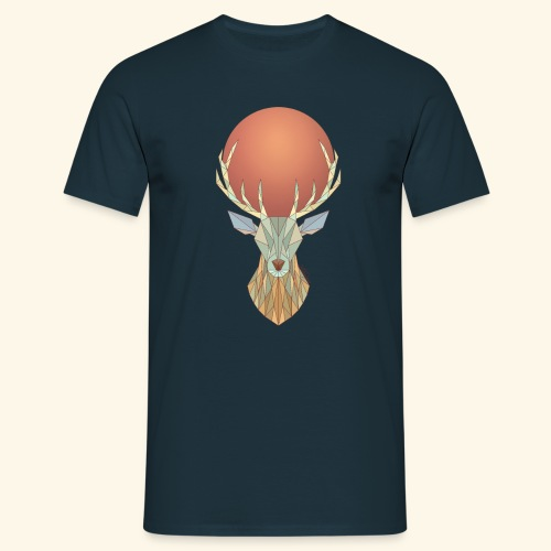 Roi Cerf Glacial - T-shirt Homme