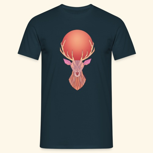 Roi Cerf Pamplemousse - T-shirt Homme