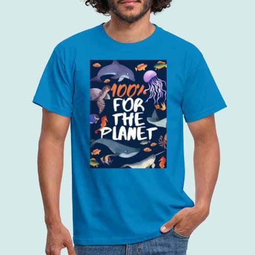 100% for the planet - Männer T-Shirt