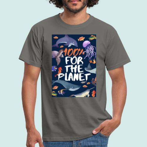 100% for the planet - Männer T-Shirt