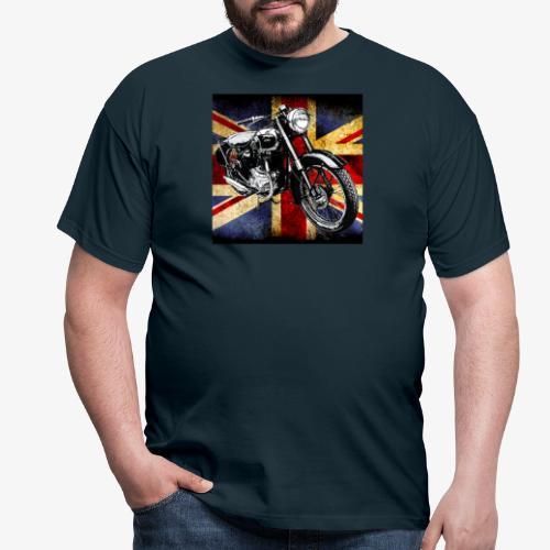 BSA motor cycle vintage by patjila 2020 4 - Men's T-Shirt