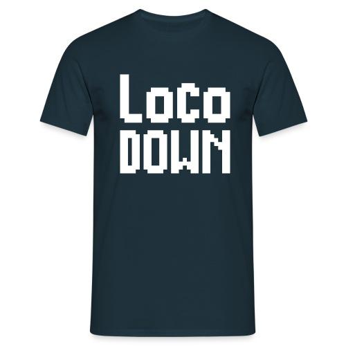 loco down lockdown satira motivazionale - Maglietta da uomo