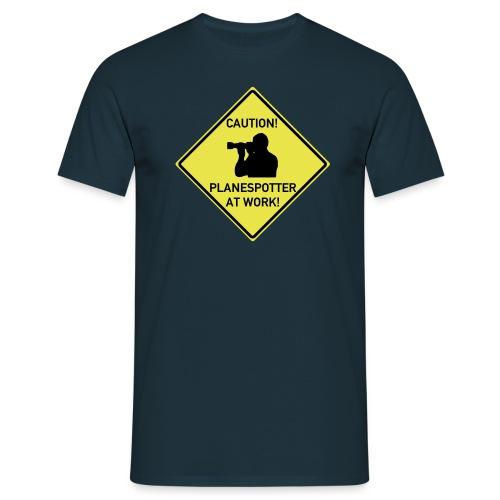 flugzeugspotter logoohne - Männer T-Shirt