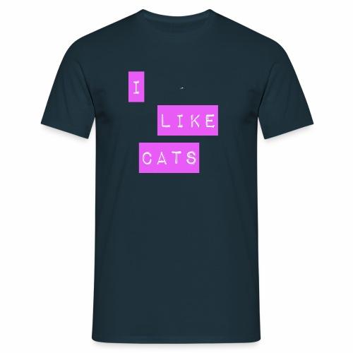 I like cats - Men's T-Shirt