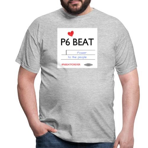 P6 Beat people power - Herre-T-shirt