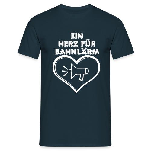 Ein Herz für Bahnlärm - Männer T-Shirt