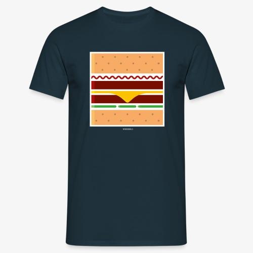 Square Burger - Maglietta da uomo