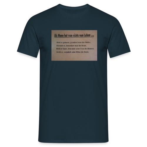 Als Mann - Männer T-Shirt
