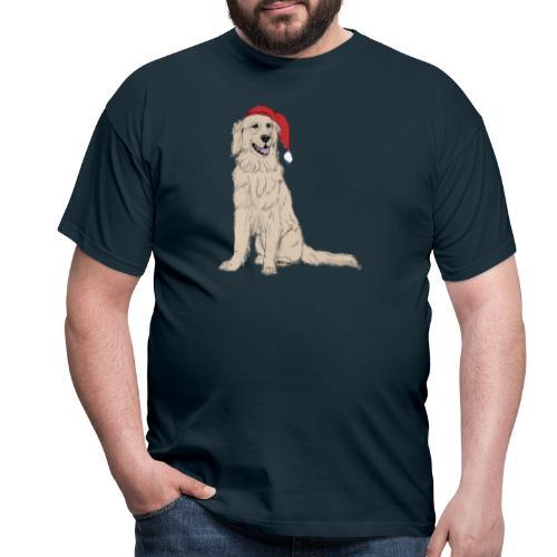 Golden Retriever Christmas - Herre-T-shirt