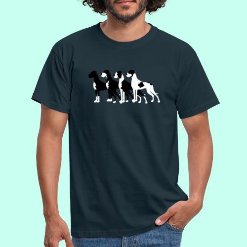 Schwarze Doggen - Männer T-Shirt