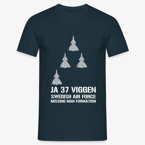 JA 37 Viggen - Missing Man Formation - T-shirt herr