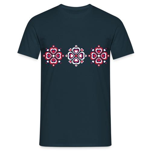 Retro Herzen fröhliche Blumen Vintage Valentinstag - Men's T-Shirt