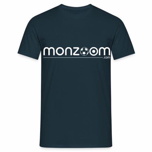 monzoom com soccer white - Men's T-Shirt