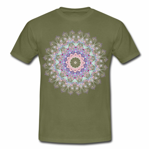 Hvid mandala - Herre-T-shirt