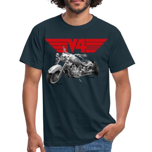 V4 Motorcycles red Wings - Männer T-Shirt