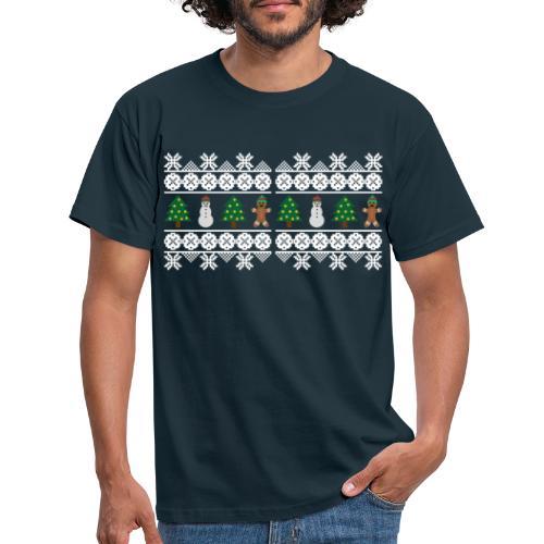 Norweger Winterfreude Lebkuchenmann Schnemann - Männer T-Shirt