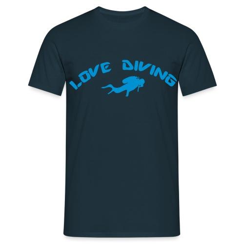 love diving - Männer T-Shirt