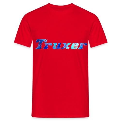 Truxer Name with Sick Blue - Men's T-Shirt