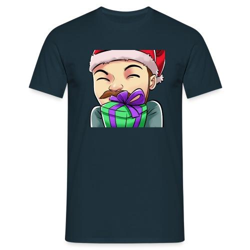 Jegscraft Christmas present emote - T-skjorte for menn